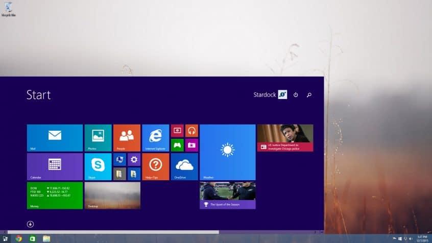 Image of Windows 8 Start Menu
