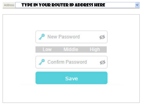 router login interface