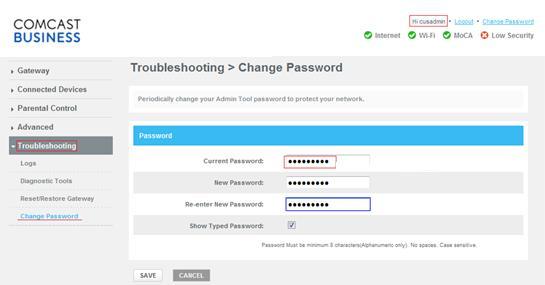 Login To Admin Tool Change Password