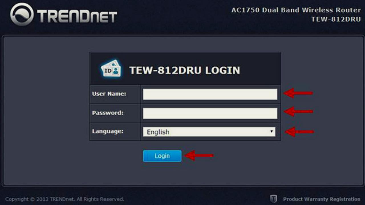trendnet router login