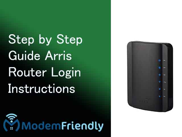 Arris Router Login Instructions