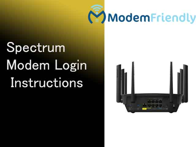 login into spetrum modem
